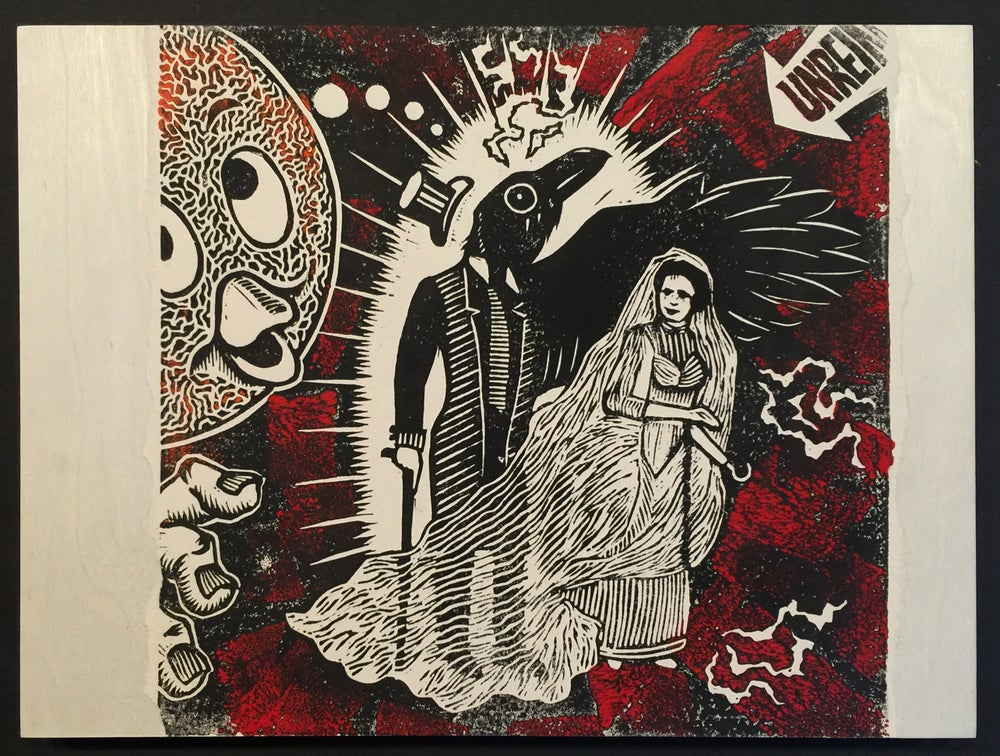 Image of Bride Screamed Murder - Linocut Print