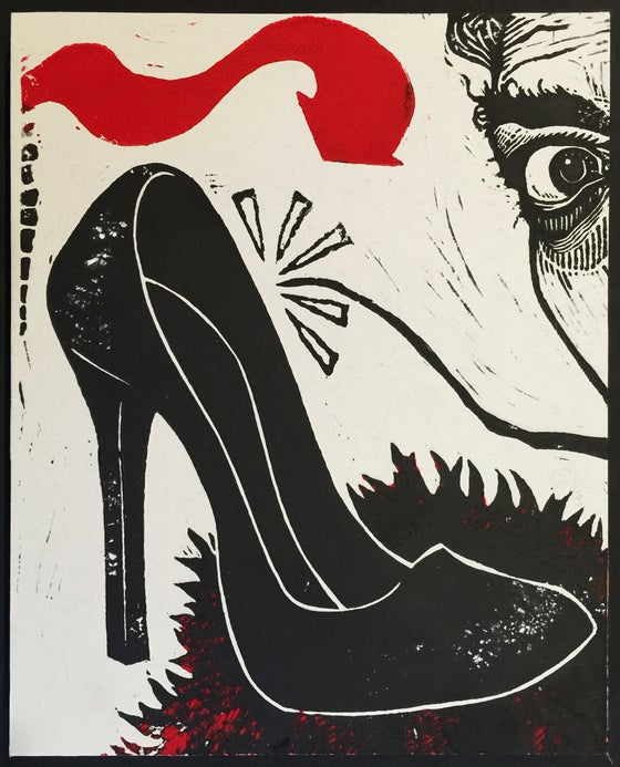 Image of Tex Avery Sound Effect - Linocut Print