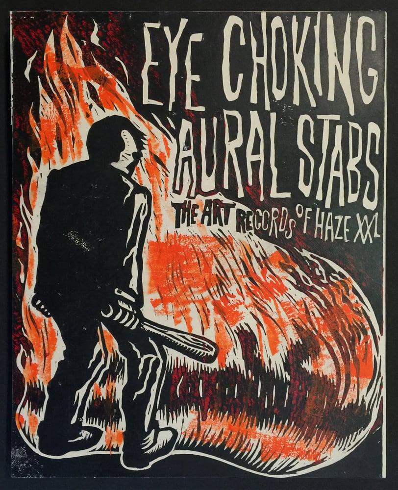 Image of Eye Choking Aural STabs - Linocut Print