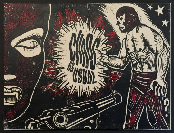 Image of Chaos As Usual - Linocut Print