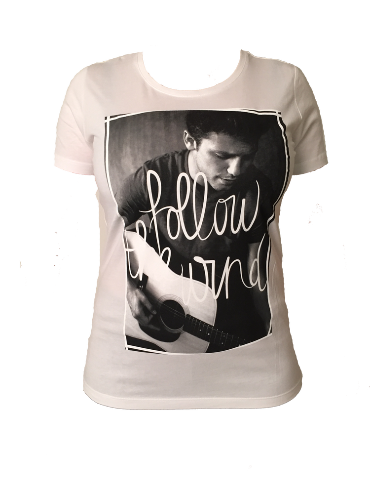 """Image of TSHIRT """"FOLLOW THE WIND"""" (White or Black)"""