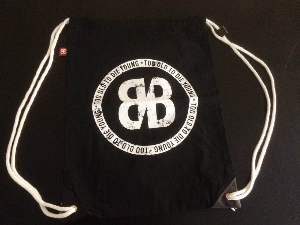 Image of COTTON BACK BAG (Black or White)