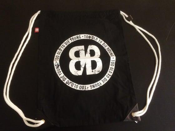 Image of COTTON BACK BAG (Black)