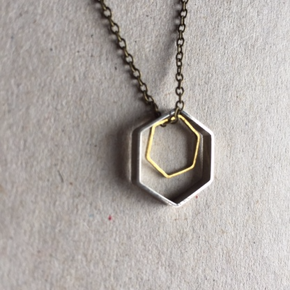 Image of Hexagon Honeycomb necklace range by The Magpie's Daughter