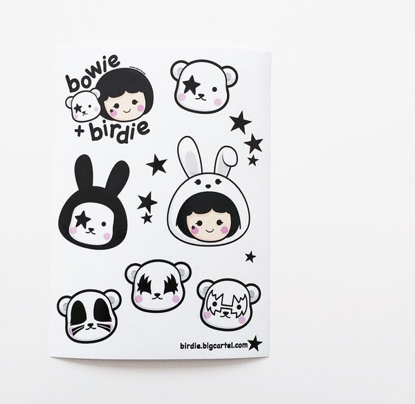 Image of Birdie + Bowie sticker set