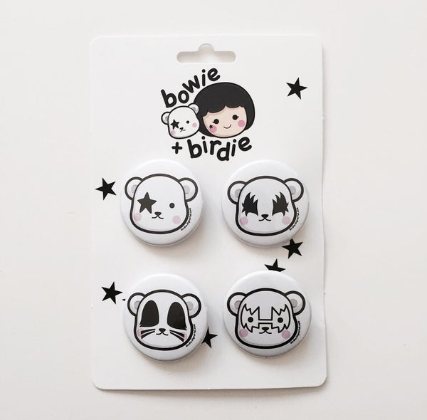 Image of Dreamer bears badge set
