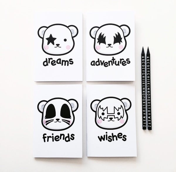 Image of Dreamer bears notebook set of 4
