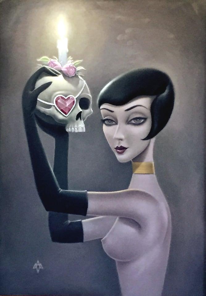 Image of Aaron Marshall 'Flapper' original art painting