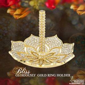 Image of Bliss Gloriously Gold Swarovski Crystal Ring Stand