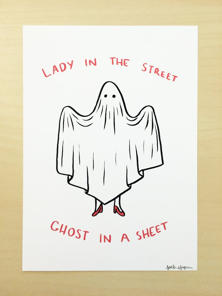 """Image of """"Ghost in a Sheet"""" Print"""