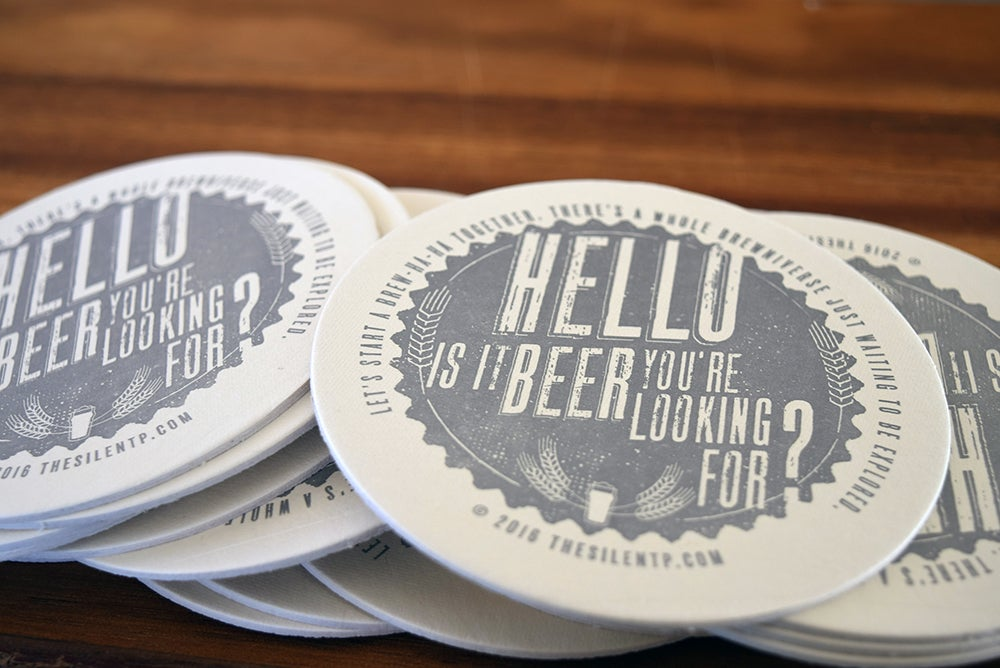Hello to Beer Coaster
