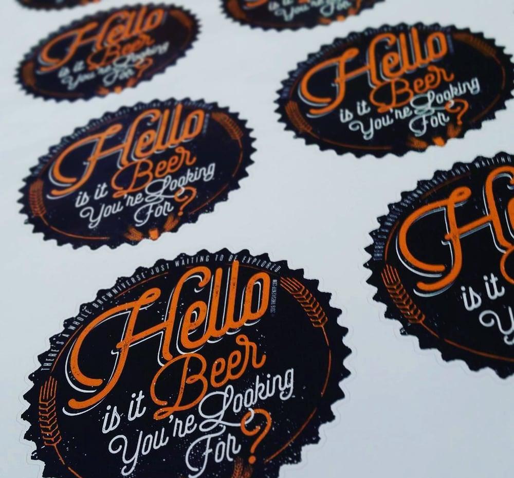 Hello to Beer Vinyl Sticker