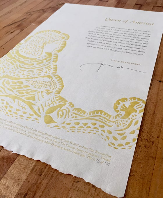 Image of Limited Edition Queen of America Broadside
