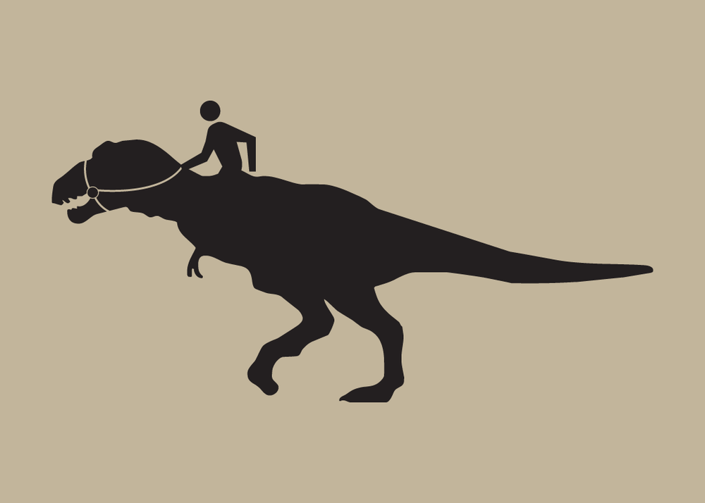 Walking Man Dino Rider Print Collection