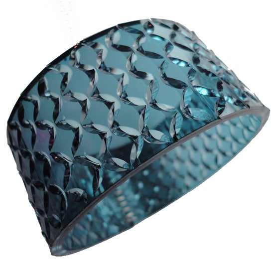 Image of crystal cuff - dark ocean blue