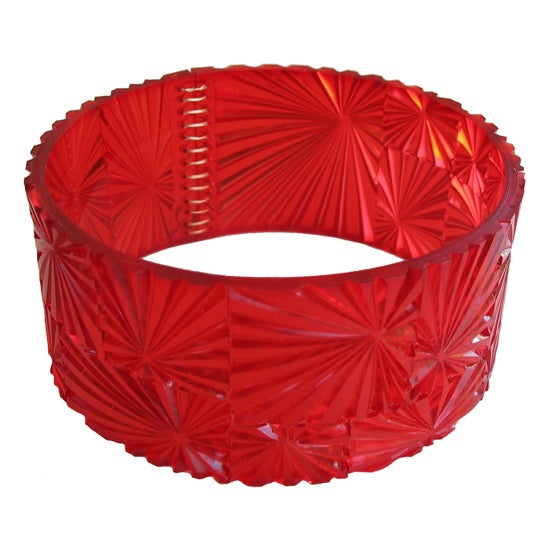 Image of bevel bangle - red