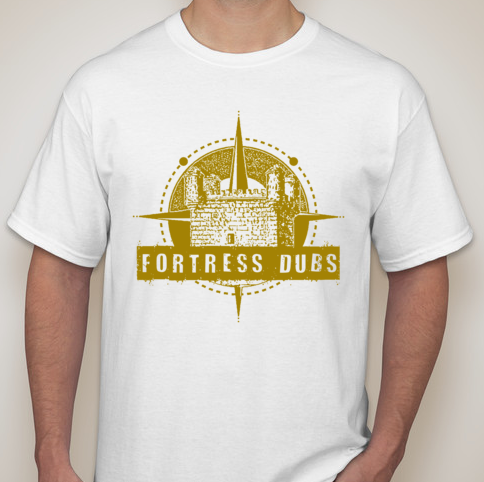 Image of WHITE W/Gold Fortress Dubs Logo Tee