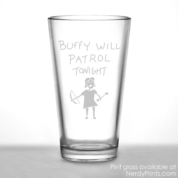 "Image of Buffy ""Hush"" Inspired Pint Glass"