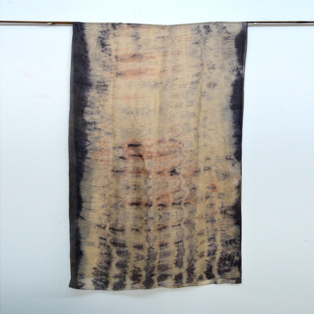 Image of Eco Print silk shawl/wrap