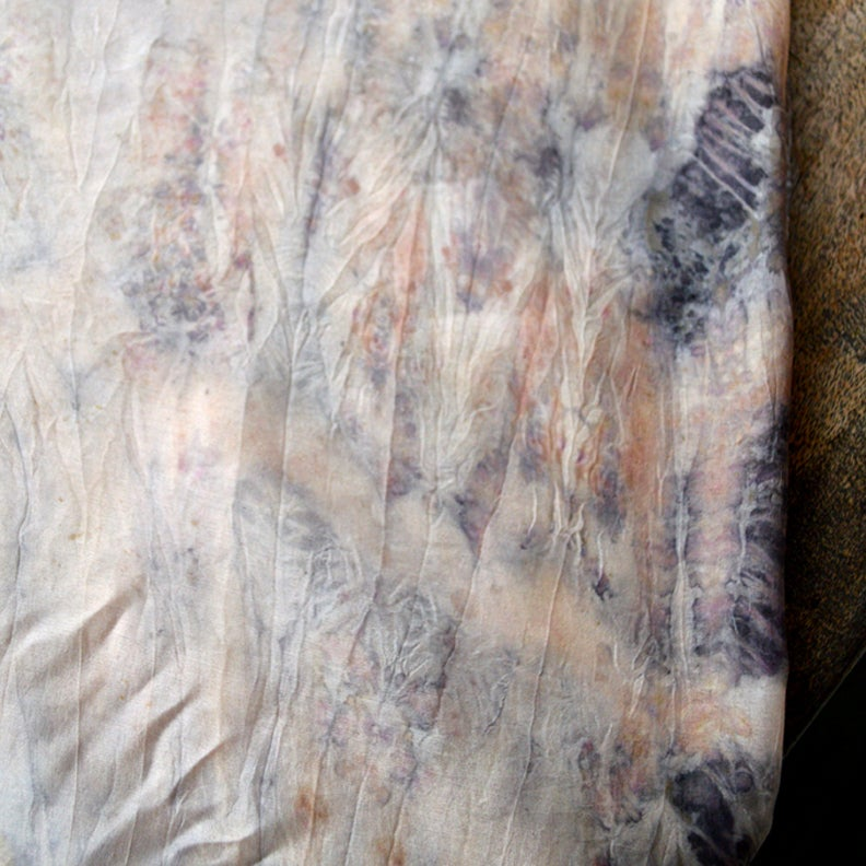 Image of Eco print silk shawl