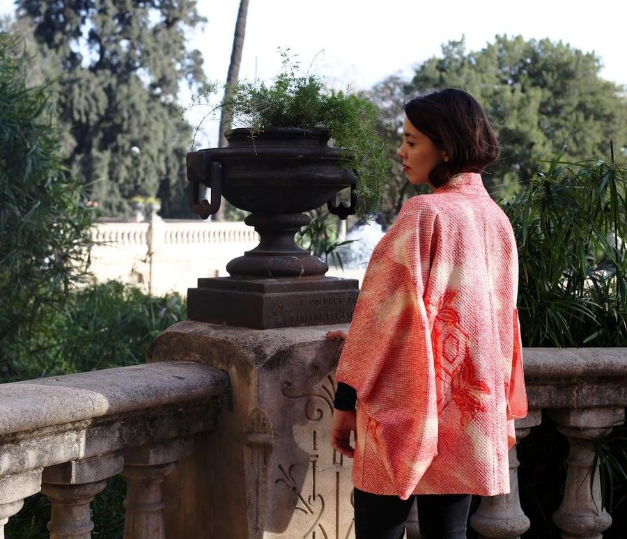 Image of Vintage Soft Pink Kimono Silk Blend