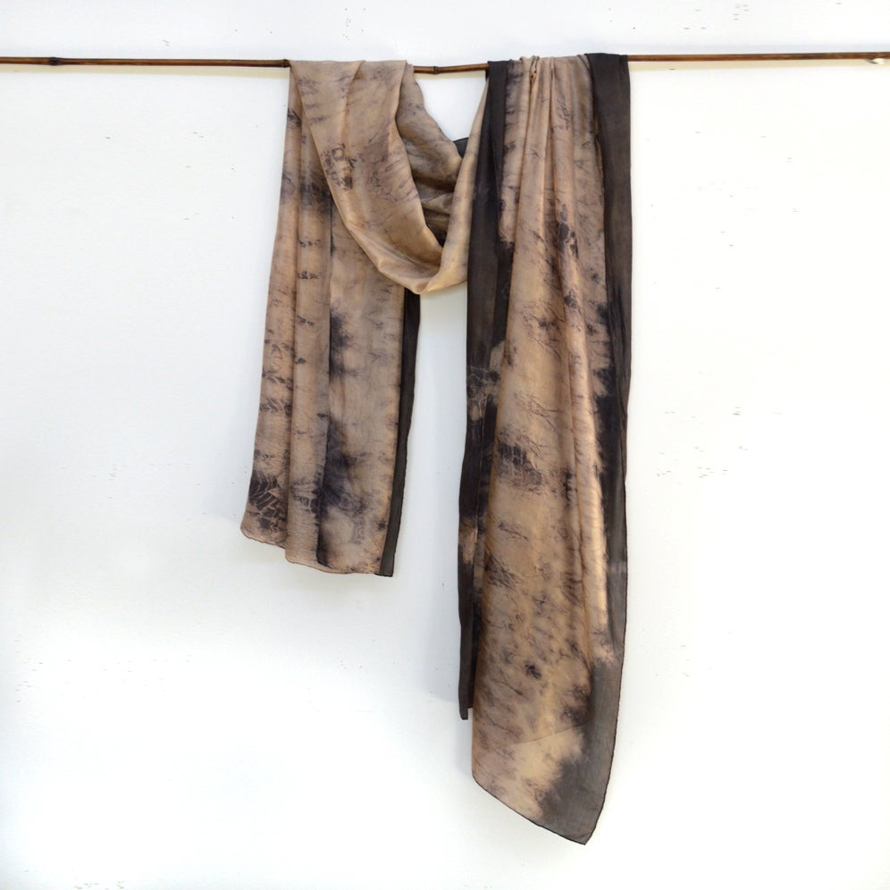 Image of Staghorn and Iron silk shawl