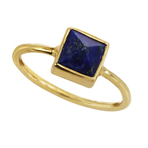 Image of GEMSTONE PYRAMID ring