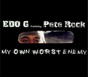 Image of EDO.G featuring PETE ROCK MY OWN WORST ENEMY CD (12 YEAR ANNIVERSARY) w/promo sticker