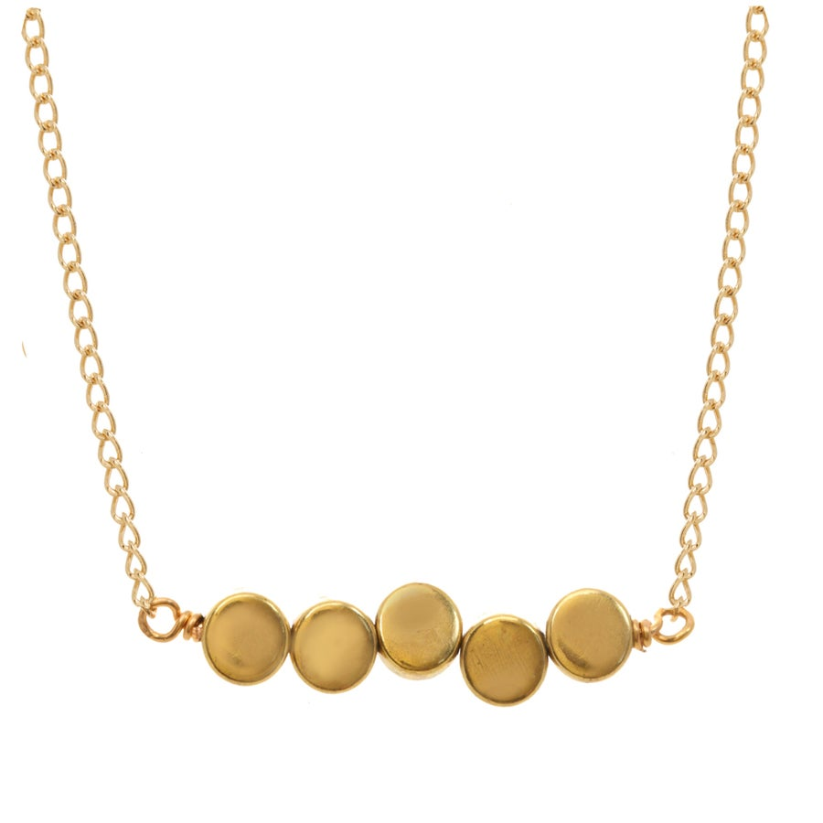Image of BRASS DOT necklace