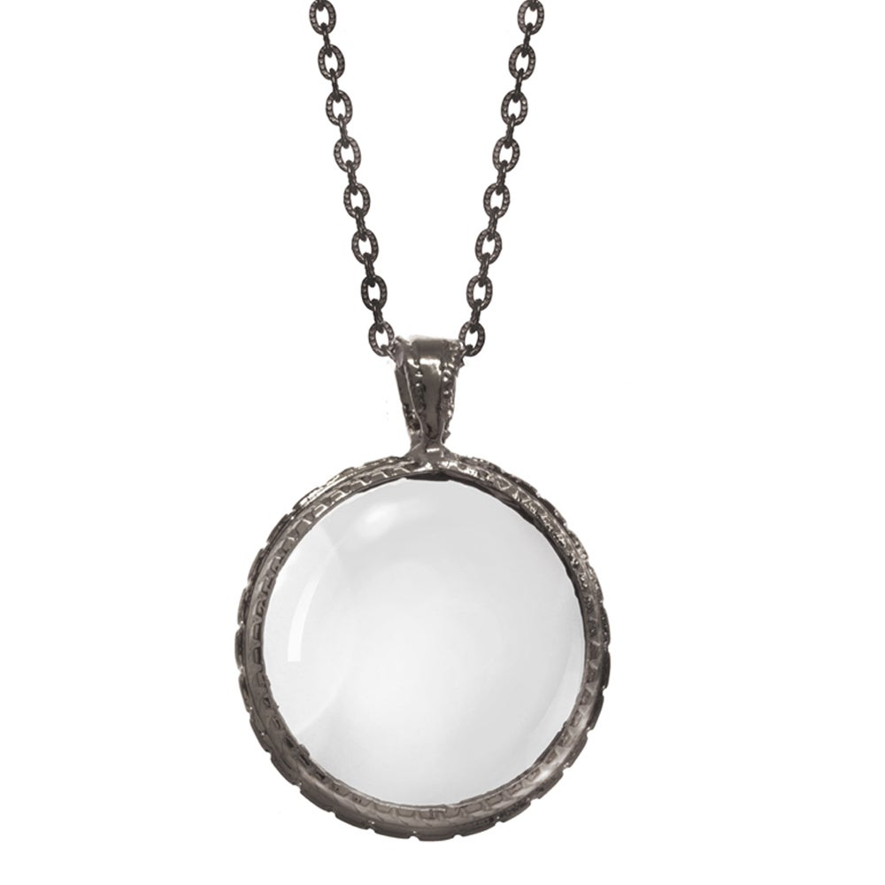 Image of OXIDIZED LOOKING GLASS pendant