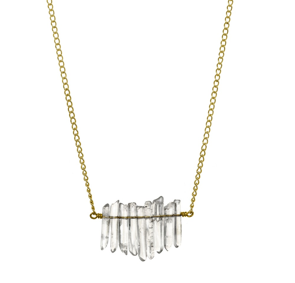Image of MINI QUARTZ CLUSTER necklace