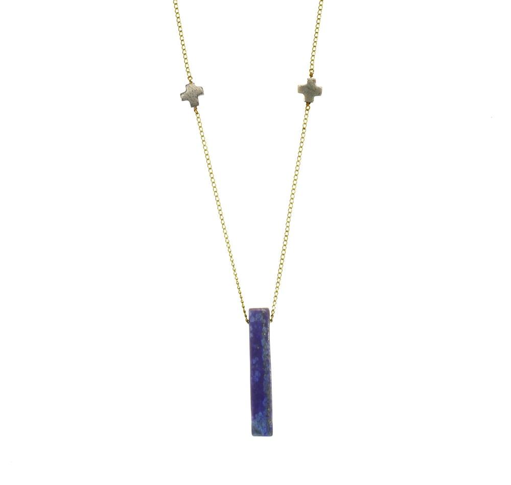 Image of LAPIS DOUBLE + pendant