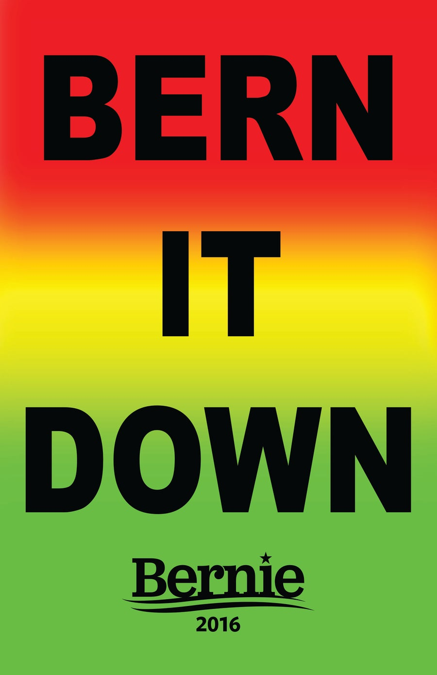 Image of BERN IT DOWN poster
