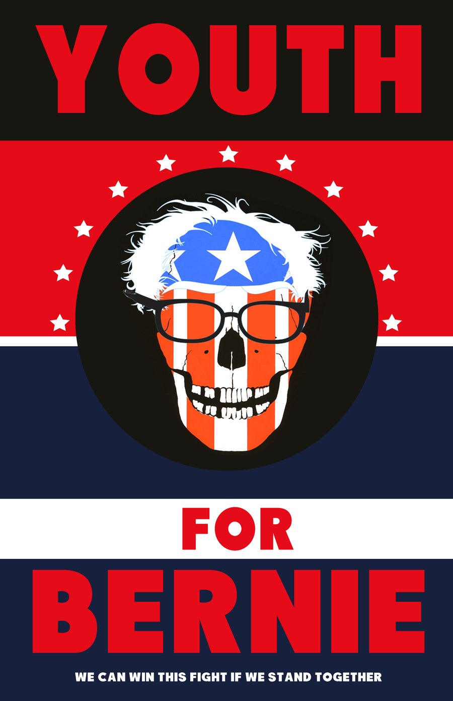 Image of YOUTH FOR BERNIE poster