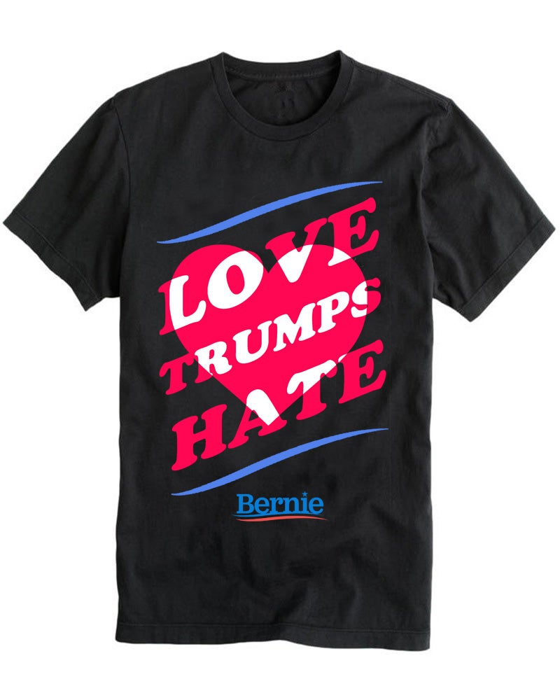 Image of LOVE TRUMPS HATE black tee