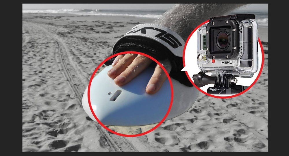 Image of The Hawaiian Bula Drip Handboard With GoPro Attachment