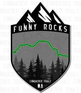 "Image of ""Funny Rocks"" Trail Badge"