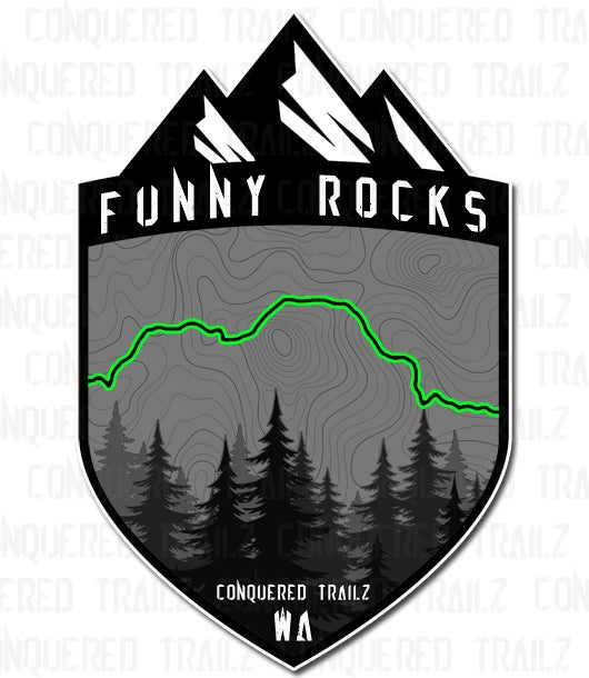 "Image of ""Funny Rocks"" Trail Badge"