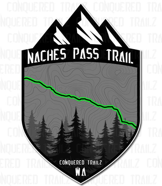 """Image of """"Naches Pass"""" Trail Badge"""