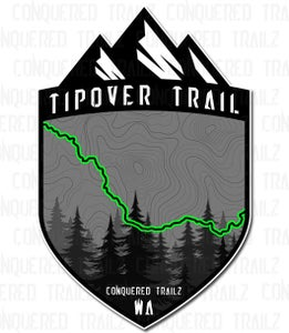 """Image of """"Tipover"""" Trail Badge"""