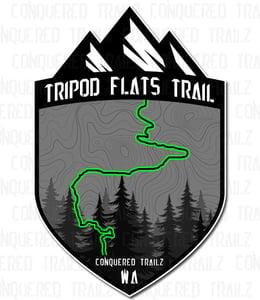 """Image of """"Tripod Flats"""" Trail Badge"""