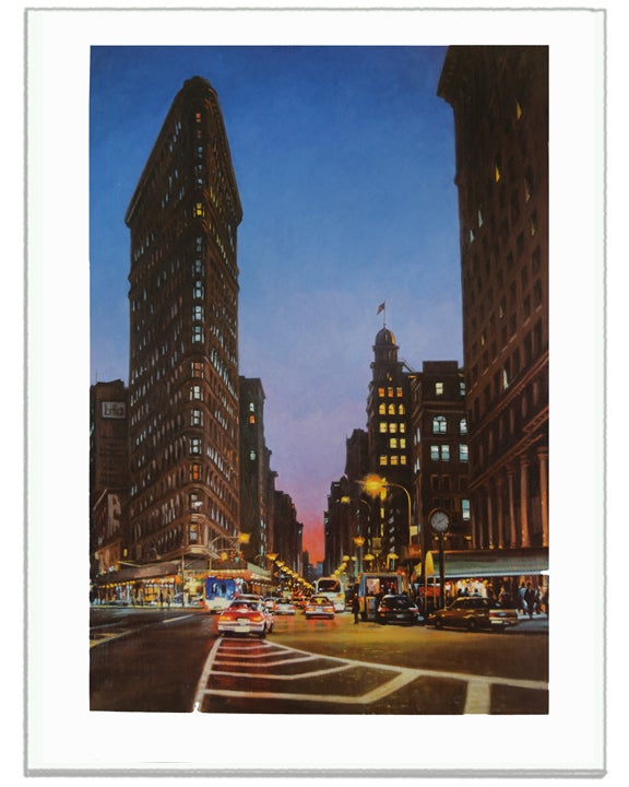 "Image of <font size=""2"">Signed Prints:</font><br>Flat Iron At Dusk"