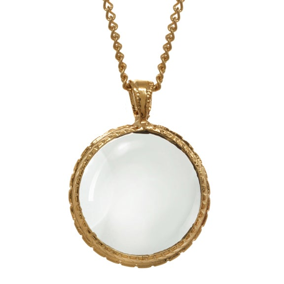Image of GOLD LOOKING GLASS pendant