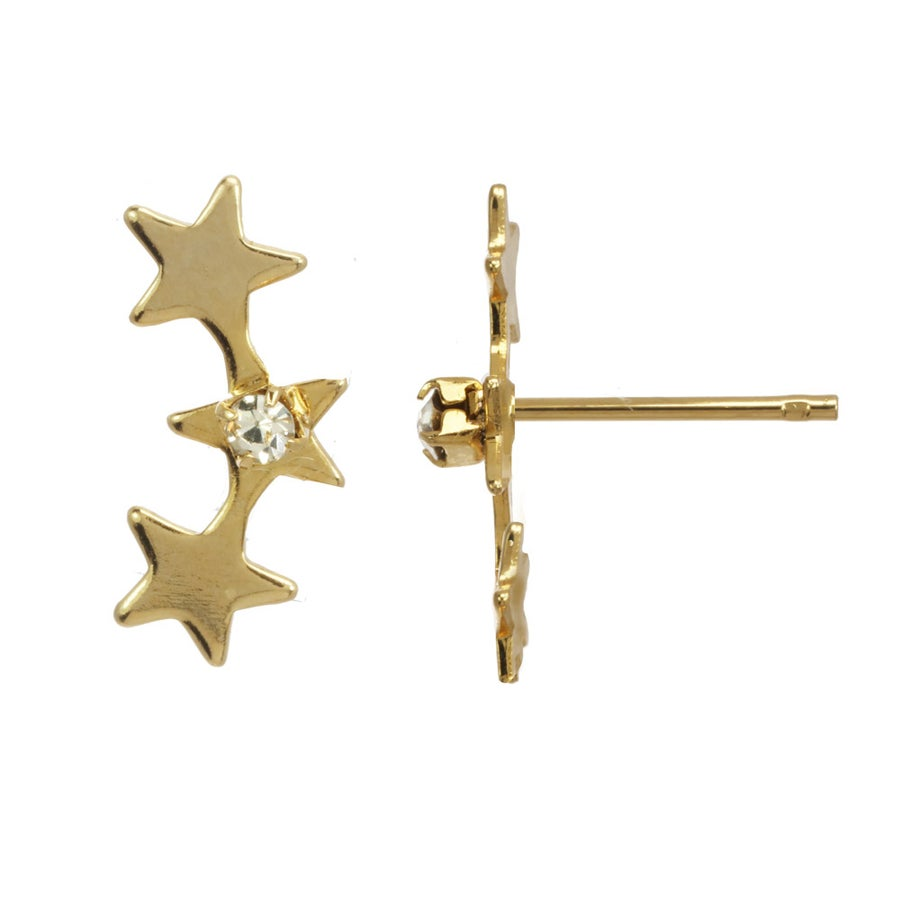 Image of STAR TRIO stud earrings