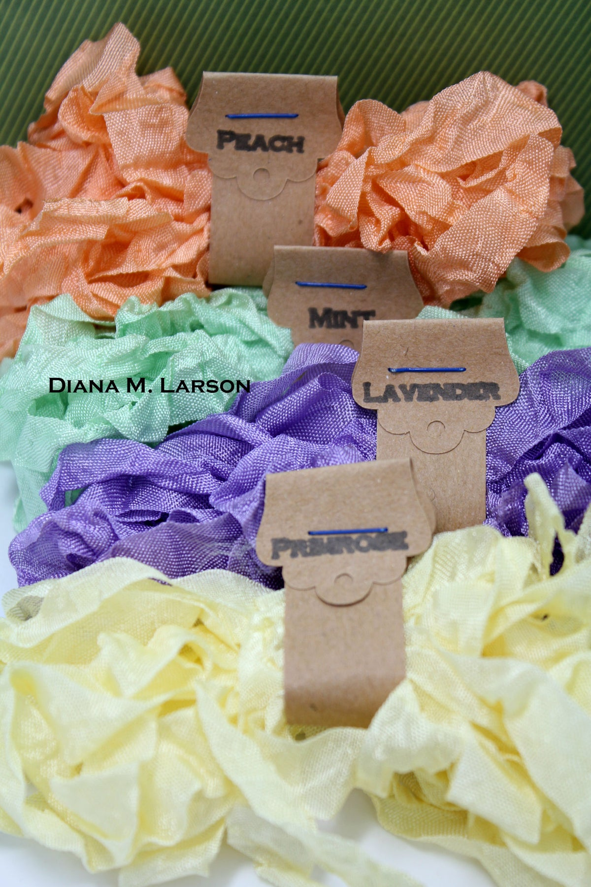 Image of Spring Bundle #1 Primrose and Lavender, Crinkle Ribbon