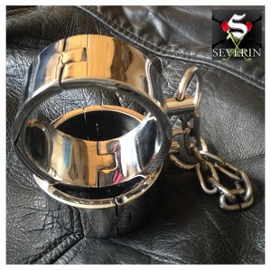 Image of Chrome Plated Steel Wrist Cuffs with chain.