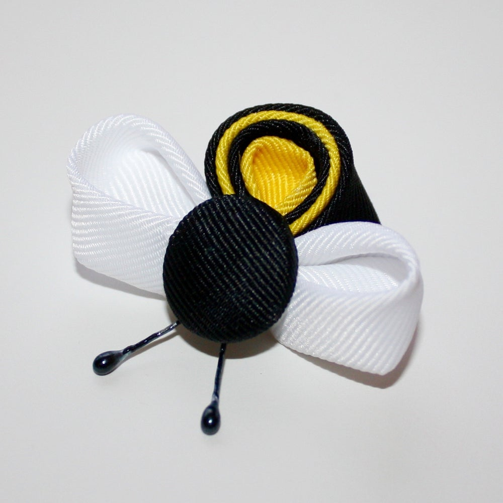 Image of Kanzashi Bumblebees Tutorial