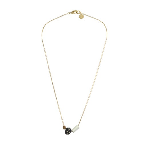 Image of ASYMMETRICAL POLKA DOT necklace
