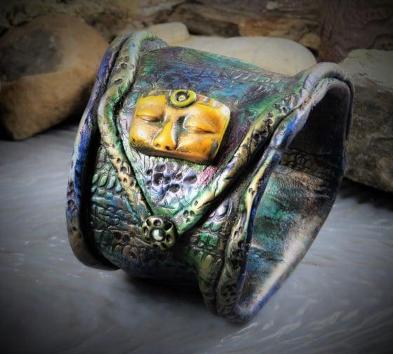 Image of  Turquiose Goddess Pacifica-Tribal Cuff Bracelett