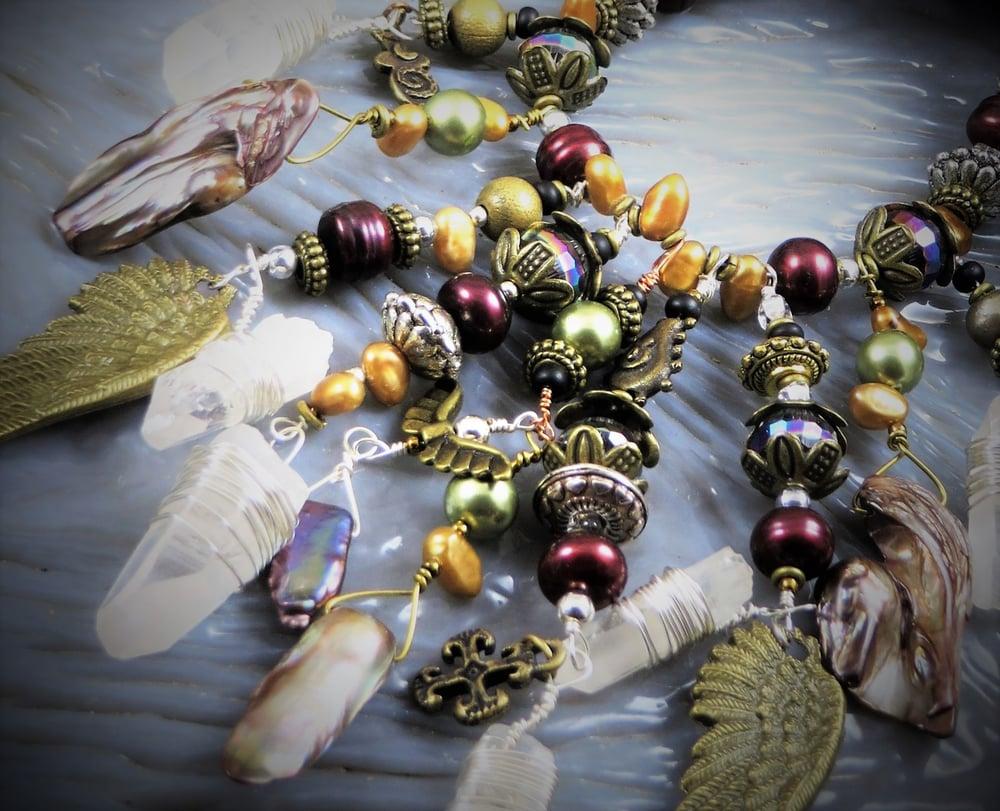 Image of Lemurian Crystal Wings- Dreaming Angel Amulet